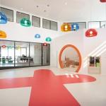 Hall d'accueil de la Maison de la Petite Enfance Lodève
