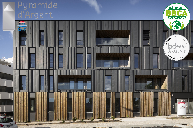 A+ Architecture Ywood Lauréat prix Pyramides d'Argent 2017, catégorie bâtiment bas-carbone