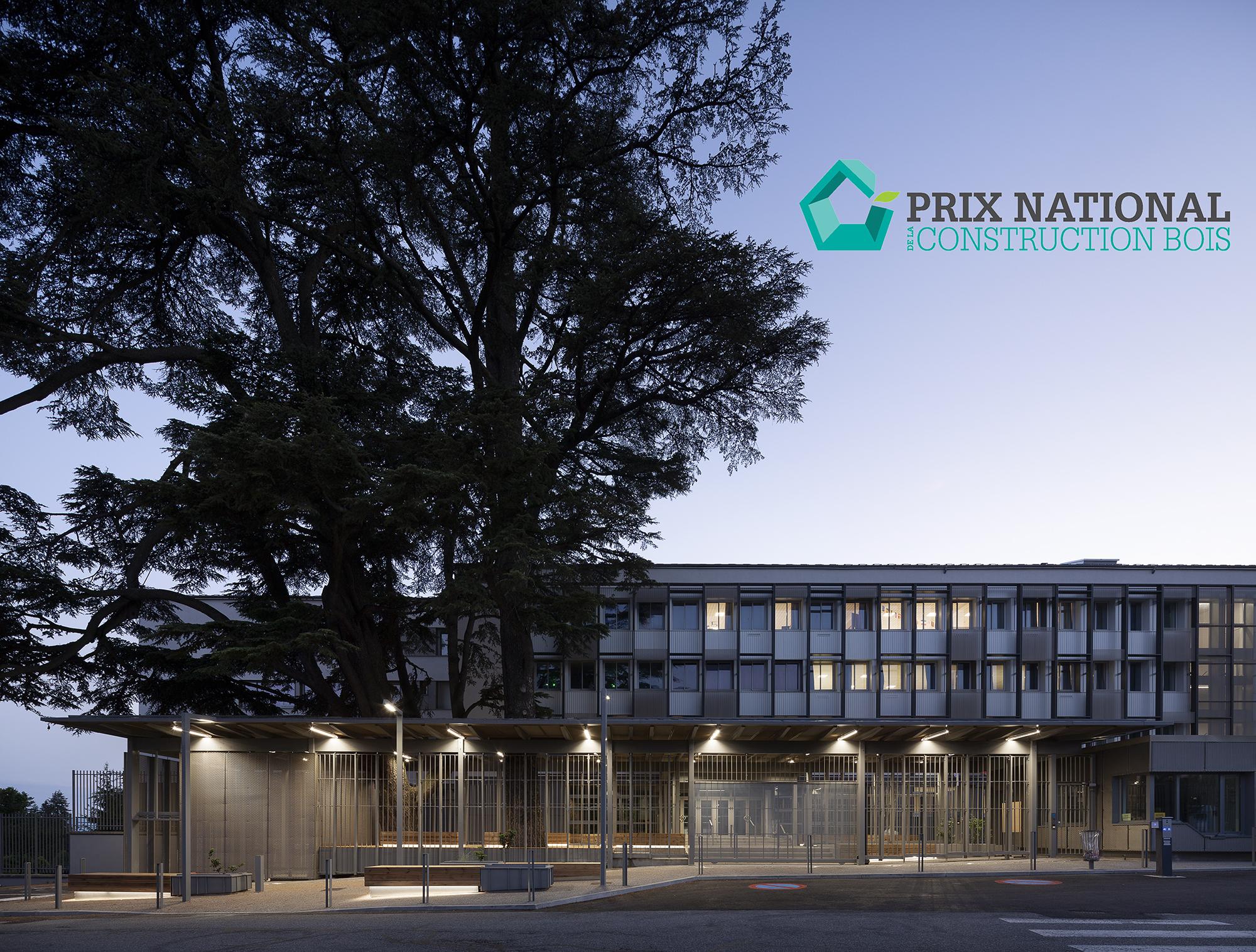Le lycée Paul Héraud à Gap | Lauréat du Prix national de la construction bois | Catégorie Aménagement extérieur